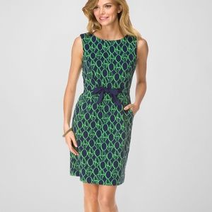 Lilly Pulitzer Evie Dress Navy Ring Pop Jacquard
